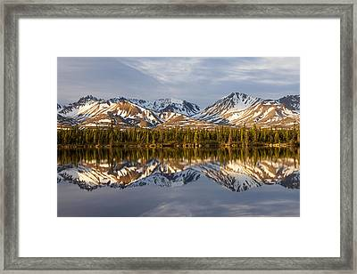 Reflections In Alaska Framed Print by Javier Fores