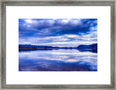 Reflections In Blue Framed Print by Paul Herrmann