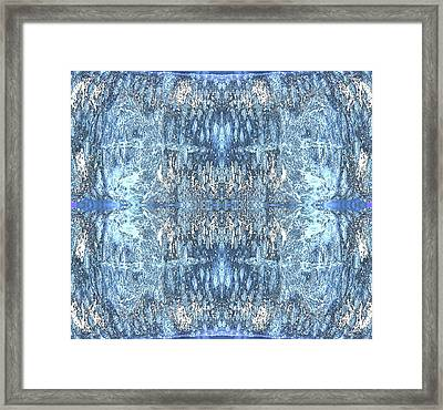 Framed Print featuring the digital art Reflections In Blue by Stephanie Grant