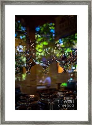 Reflections In Glass Framed Print