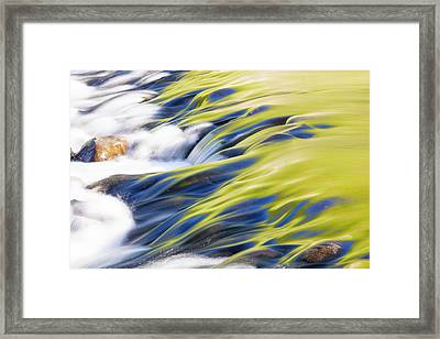 Reflections In Grasmere Weir Framed Print by Ashley Cooper