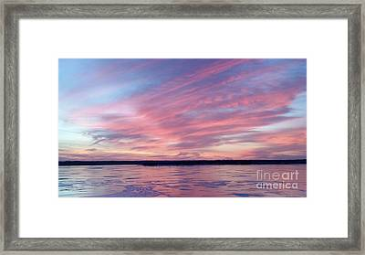 Reflections In Pink Framed Print