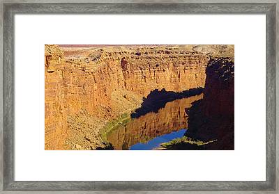 Reflections In The Colorado River Framed Print by Jeff Swan