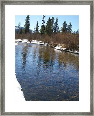 Reflections In The Creek Framed Print by Jewel Hengen