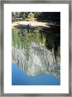 Reflections In The Merced River Framed Print