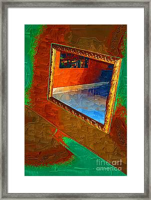 Reflections In The Mirror Framed Print