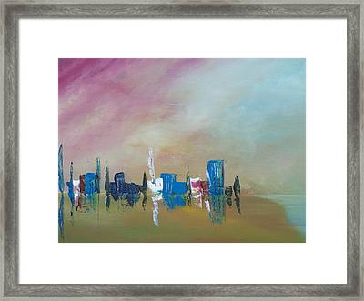 Reflections In The Sand Framed Print by Conor Murphy