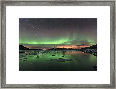 Reflections In The Sea Framed Print by Frank Olsen