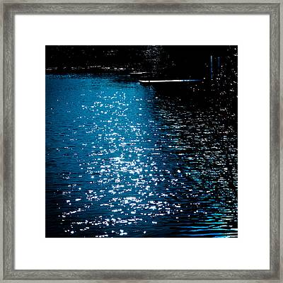 Reflections In The Shadows On The Moose River Framed Print by David Patterson