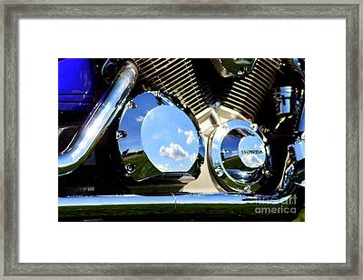 Reflections In The V Twin Framed Print by Patti Whitten