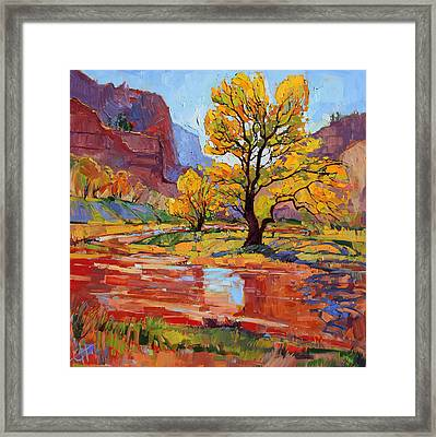 Reflections In The Wash Framed Print by Erin Hanson