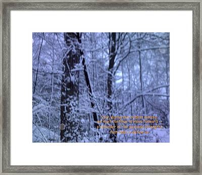Reflections In Winter Framed Print by John Lavernoich