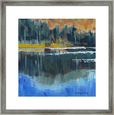 Framed Print featuring the painting Reflections by Jo Appleby
