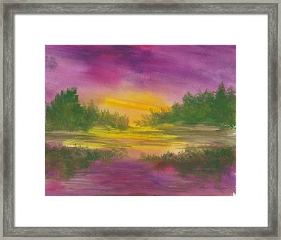 Reflections Framed Print by Karen  Condron