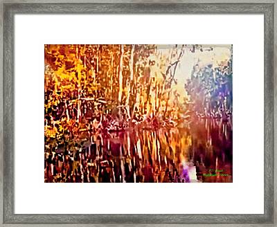 Reflections L Framed Print by Larry Lamb
