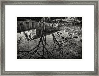 Reflections Northboro Dam Framed Print by Patrick Garner