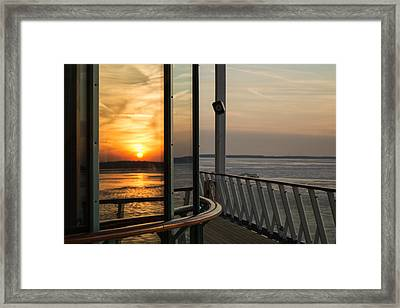 Framed Print featuring the photograph Reflections Of A Chesapeake Sunset by Bill Swartwout