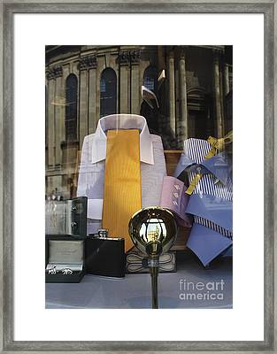 Reflections Of A Gentleman's Tailor Framed Print by Terri Waters