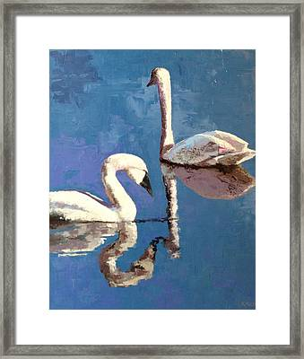 Reflections Of A Kiss Framed Print