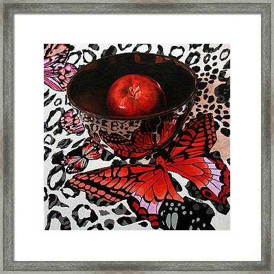 Reflections Of A Red Butterfly Framed Print by Marina Petro