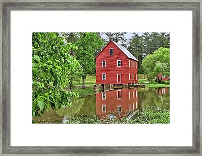 Reflections Of A Retired Grist Mill Framed Print by Gordon Elwell