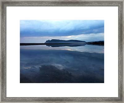 Reflections Of A Storm Framed Print by Alessio Casula