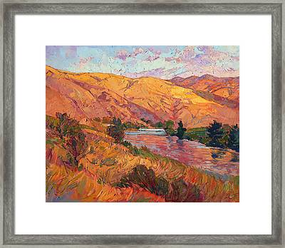 Framed Print featuring the painting Reflections Of August by Erin Hanson