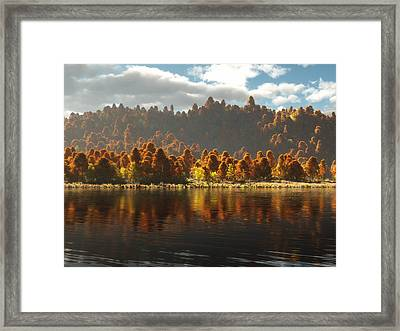 Reflections Of Autumn Framed Print by Melissa Krauss