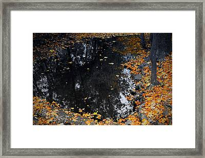 Framed Print featuring the photograph Reflections Of Autumn by Photographic Arts And Design Studio