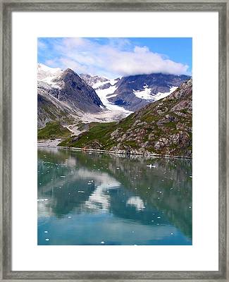 Reflections Of Blue And Green In Alaska Framed Print