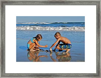 Reflections Of Childhood Framed Print by Lisa Merman Bender
