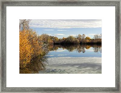 Reflections Of Clouds Framed Print by Dana Moyer