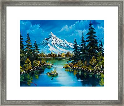 Reflections Of Fall Framed Print by C Steele
