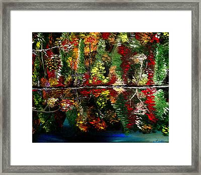 Reflections Of Fall Framed Print by Mark Moore