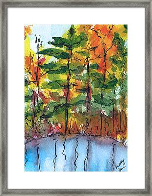 Reflections Of Fall Framed Print by Shelley Bain