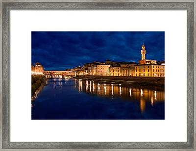 Reflections Of Florence Framed Print by Gurgen Bakhshetsyan
