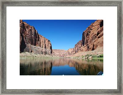 Reflections Of Glen Canyon Framed Print by Robert  Moss