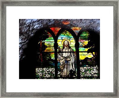 Reflections Of Jesus Framed Print