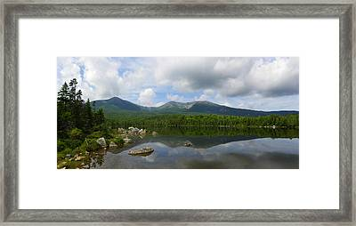 Reflections Of Katahdin At Sandy Stream Pond Framed Print
