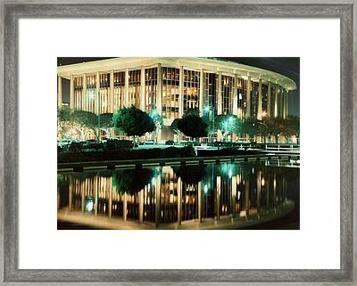 Reflections Of L.a. Music Center Framed Print