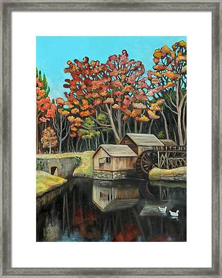 Reflections Of Mabry Mill Framed Print by Eve  Wheeler