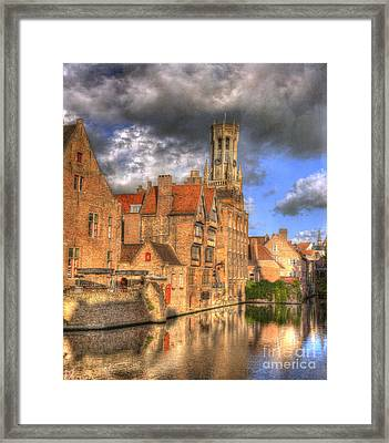 Reflections Of Medieval Buildings Framed Print