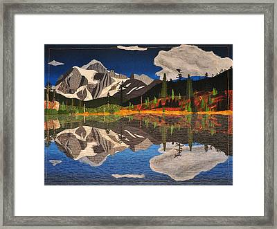 Reflections Of Mt.shuksan Framed Print