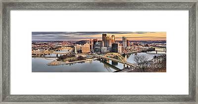Reflections Of Pittsburgh Pennsylvania Framed Print