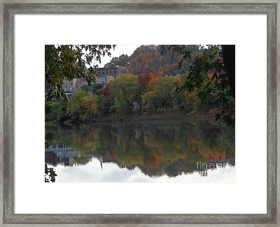 Reflections Of Pittston Framed Print by Christina Verdgeline