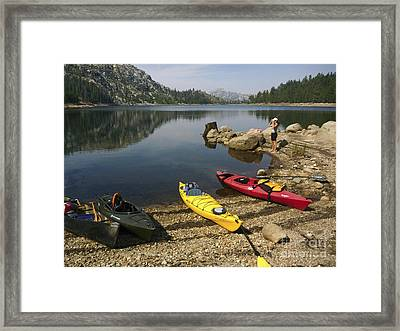 Reflections Of Seclusion Framed Print by Cheryl Wood