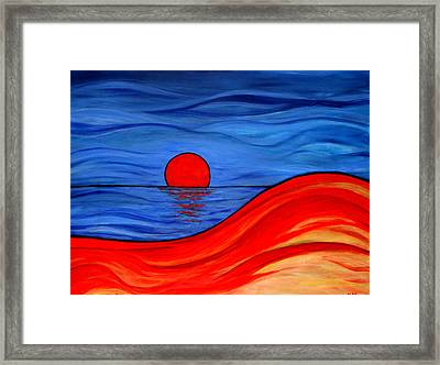 Reflections Of Southern Australia Framed Print by Kathy Peltomaa Lewis