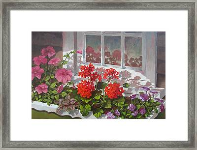 Reflections Of Summer Framed Print by Tony Caviston