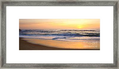 Reflections Of Sunrise Panorama By Kaye Menner Framed Print by Kaye Menner