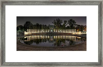 Reflections Of The Atlantic Theater Framed Print